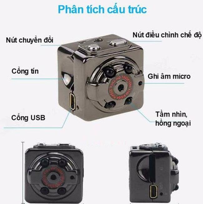 Camera quay lén rubik SQ8 – Thông số kỹ thuật kèm giá bán chi tiết